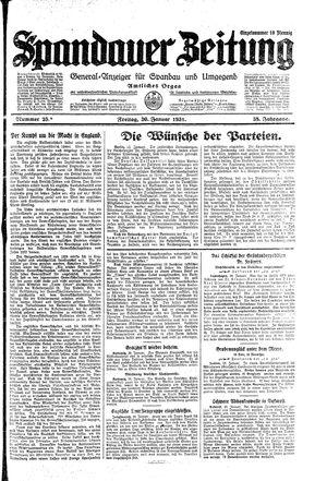 Spandauer Zeitung on Jan 30, 1931