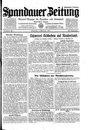 Spandauer Zeitung vom 03.02.1931