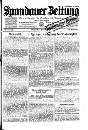 Spandauer Zeitung vom 04.02.1931
