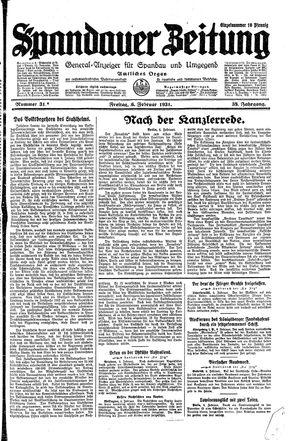 Spandauer Zeitung vom 06.02.1931