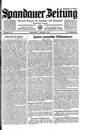 Spandauer Zeitung vom 07.02.1931
