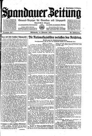 Spandauer Zeitung vom 11.02.1931