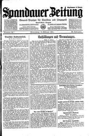 Spandauer Zeitung vom 12.02.1931