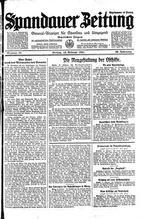 Spandauer Zeitung vom 13.02.1931