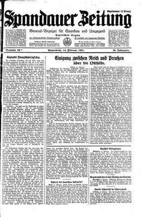 Spandauer Zeitung vom 14.02.1931
