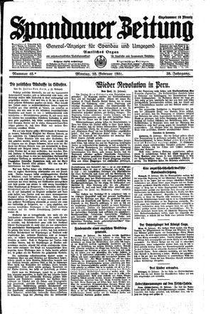 Spandauer Zeitung vom 23.02.1931