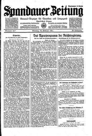 Spandauer Zeitung vom 24.02.1931