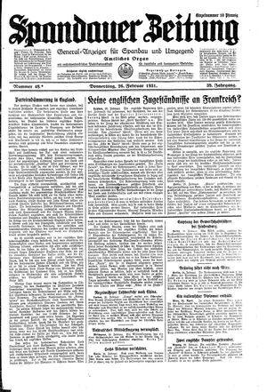 Spandauer Zeitung on Feb 26, 1931
