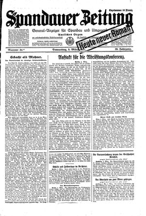 Spandauer Zeitung vom 05.03.1931