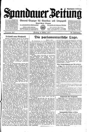 Spandauer Zeitung vom 06.03.1931