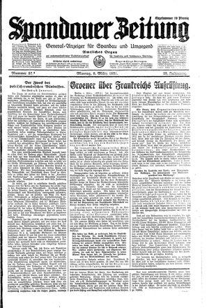 Spandauer Zeitung vom 09.03.1931