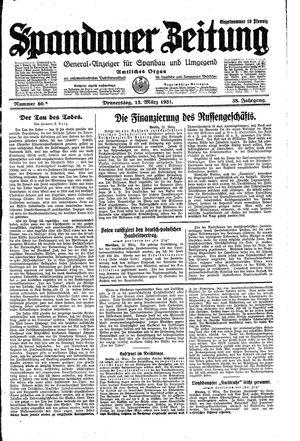 Spandauer Zeitung vom 12.03.1931