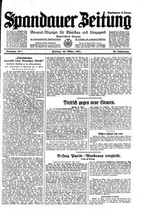Spandauer Zeitung vom 20.03.1931