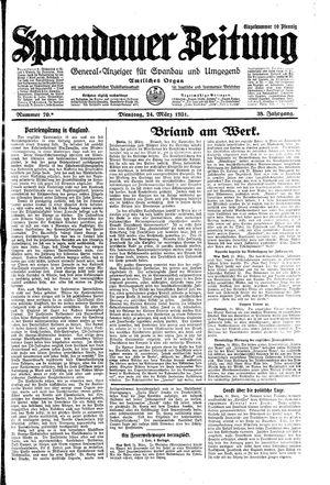 Spandauer Zeitung vom 24.03.1931