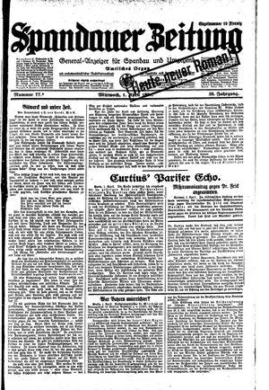 Spandauer Zeitung vom 01.04.1931