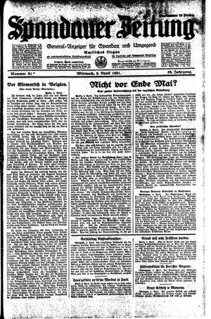 Spandauer Zeitung vom 08.04.1931