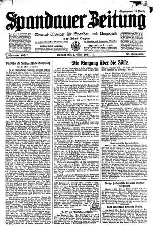Spandauer Zeitung vom 02.05.1931