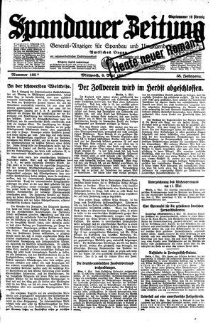 Spandauer Zeitung vom 06.05.1931