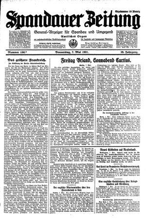Spandauer Zeitung vom 07.05.1931