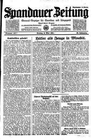 Spandauer Zeitung vom 08.05.1931