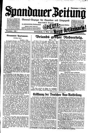 Spandauer Zeitung vom 09.05.1931