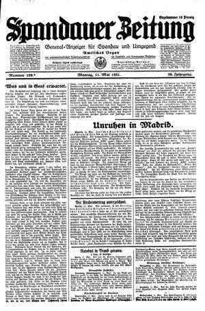 Spandauer Zeitung vom 11.05.1931