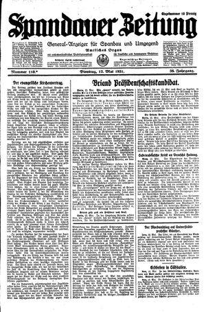 Spandauer Zeitung vom 12.05.1931