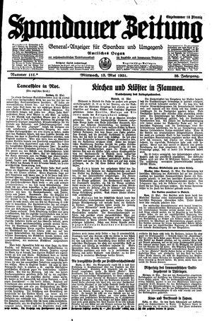 Spandauer Zeitung vom 13.05.1931