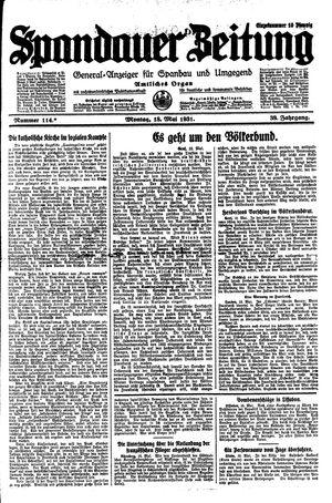 Spandauer Zeitung vom 18.05.1931