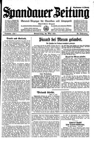 Spandauer Zeitung vom 28.05.1931