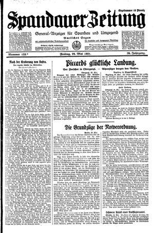 Spandauer Zeitung vom 29.05.1931