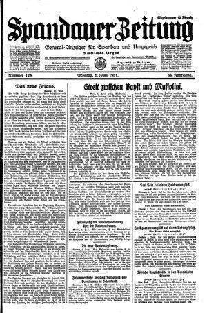 Spandauer Zeitung vom 01.06.1931