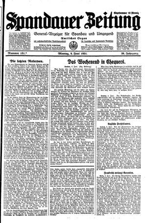 Spandauer Zeitung vom 08.06.1931