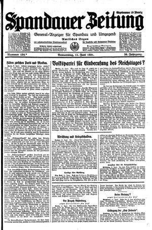 Spandauer Zeitung on Jun 11, 1931