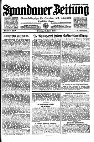 Spandauer Zeitung vom 12.06.1931