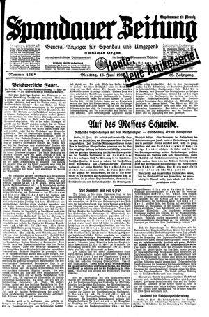 Spandauer Zeitung vom 16.06.1931