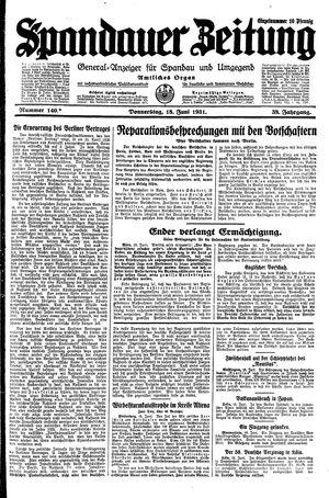 Spandauer Zeitung vom 18.06.1931