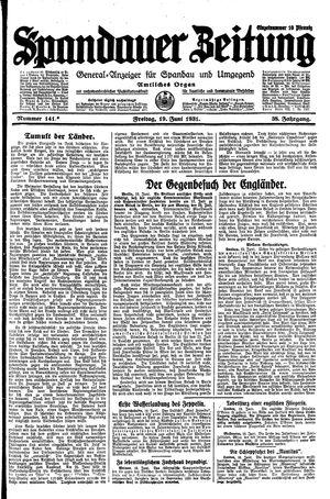 Spandauer Zeitung vom 19.06.1931