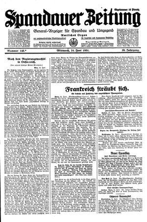 Spandauer Zeitung vom 24.06.1931