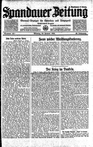 Spandauer Zeitung vom 23.01.1933