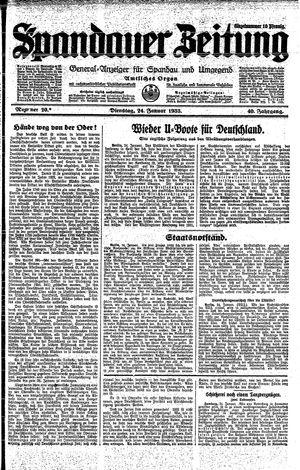 Spandauer Zeitung vom 24.01.1933