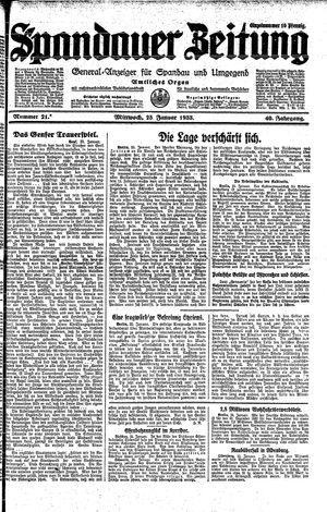 Spandauer Zeitung on Jan 25, 1933