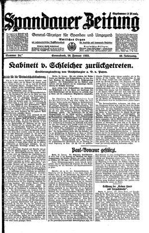 Spandauer Zeitung vom 28.01.1933
