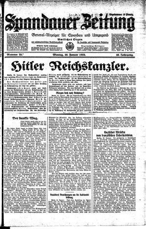 Spandauer Zeitung vom 30.01.1933