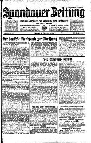 Spandauer Zeitung vom 03.02.1933