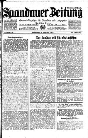 Spandauer Zeitung vom 04.02.1933