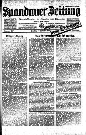 Spandauer Zeitung vom 10.02.1933