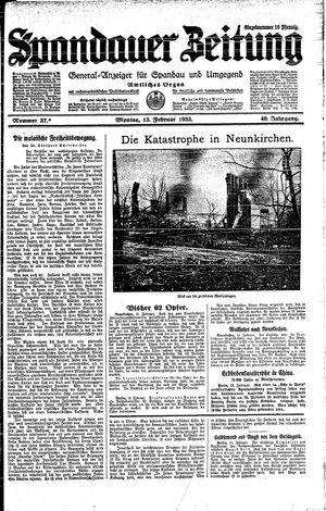 Spandauer Zeitung on Feb 13, 1933