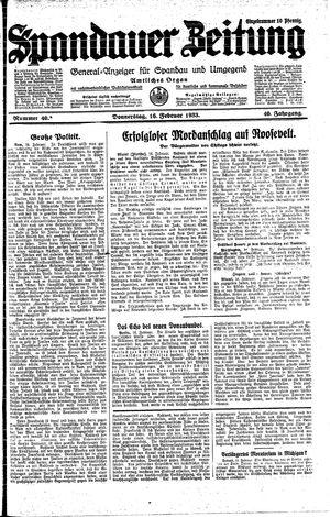 Spandauer Zeitung on Feb 16, 1933