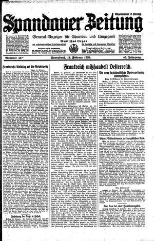 Spandauer Zeitung vom 18.02.1933